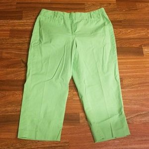 Lime Green Talbots Capris
